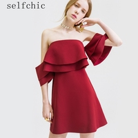 Wine Red Sexy Woman Summer Dress Strapless Backless Dresses SALE