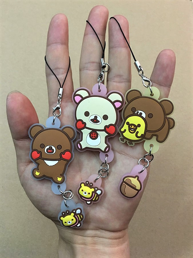G499 Rilakkuma Original Japanese Anime Figure Rubber Silicone Sweet Smell Mobile Phone Charms/keychain/strap