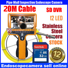 20M-30M real color video sewer pipe inspection camera,pipe weld inspection camera,camera inspection pipe industrial with SD card