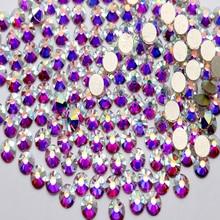 Суперблеск ss3 ss4 ss5 ss6 ss8 ss10 ss16 ss20 ss30 ss34 ss40 ss50 искрящегося цвета Кристалл aб для ногтей с украшением в виде кристаллов с плоской задней частью стразы горячей фиксации