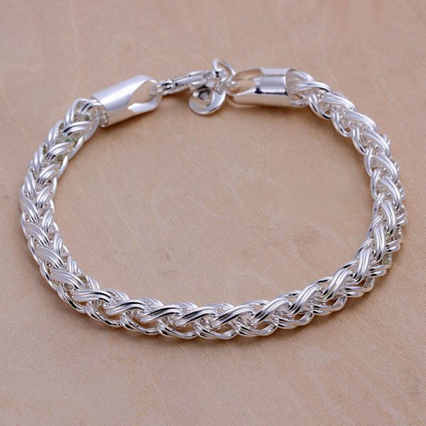 Free Shipping Low Prices Handmade 925 Silver Fashion Jewelry, The Twisting  Bracelet For Girls