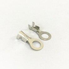 Terminal-Connector Diameter-Ring Copper Circular 50pcs 4mm-Hole Fork-Type Splic NEW