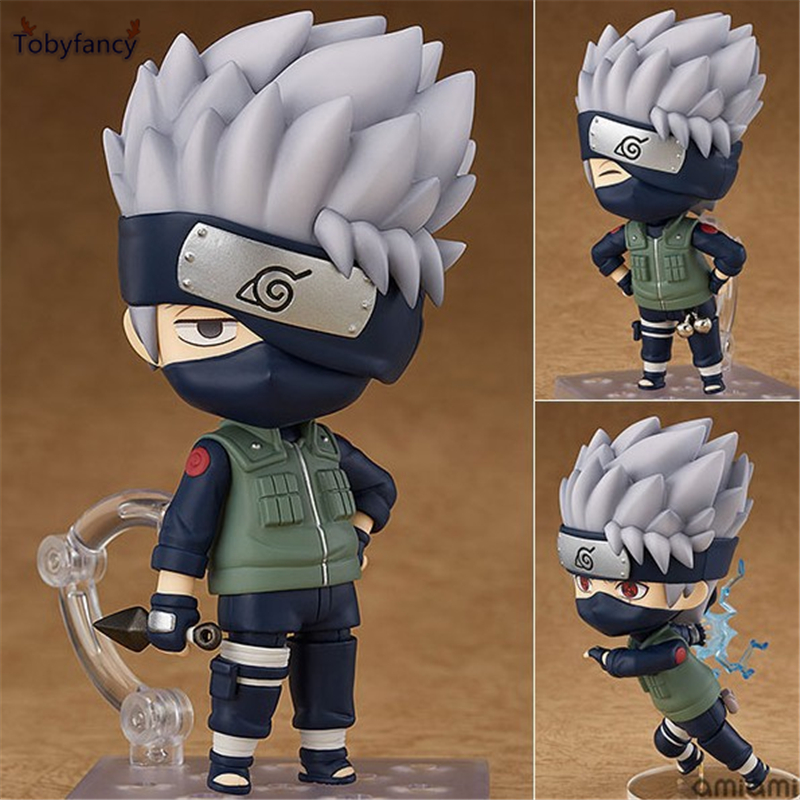 Tobyfancy Naruto Shippuden Anime Figure Hatake Kakashi Nendoroid 724# KAKASHI PVC 10CM Collection Model Toy