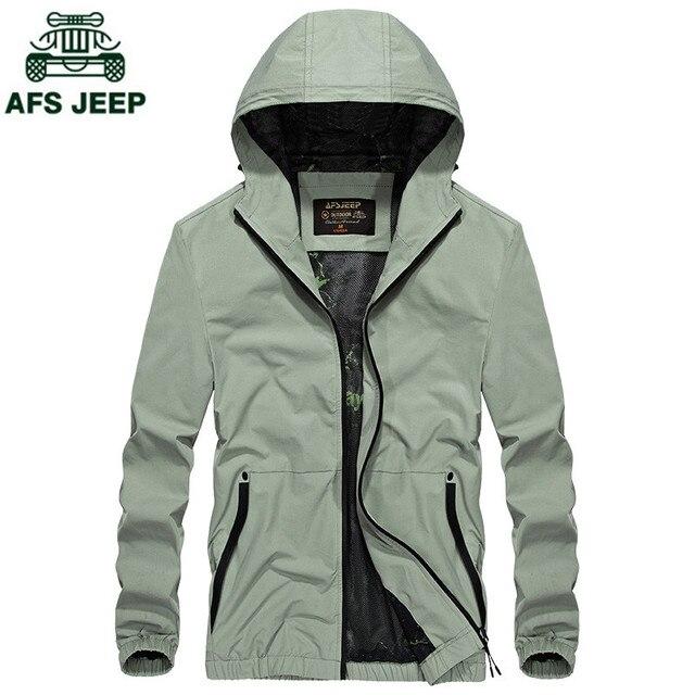 € 50.72 |AFS JEEP Nouvelle Automne et Hiver Veste Manteau Hommes Marque Vêtements Mode Mâle Bombardier Veste Top Qualité Outwear vert Clair dans