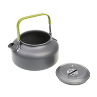 Portable 0 8L Camping Survival Water Kettle Teapot Pot Aluminum W Mesh Bag Travel Hiking Outdoor