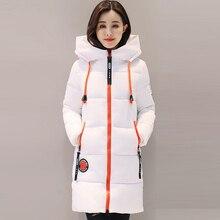 Fashion Snow Coat Women Parka 2017 Winter Coat Women Jacket Long Thick Slim Ladies Coats Outerwear Parka Jacket Female QH0536