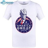 2017 Fashion Men T Shirt Movie Guardians Of The Galaxy I Am President Print T Shirt