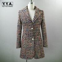 2019 Новая мода Офисные женские туфли твид длинный Блейзер Куртка шорты Комплект из двух предметов Для женщин Plaid Twill костюм формальный прилег