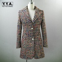 2019 новый модный офисный женский твидовый Длинный блейзер, пиджак, шорты, комплект из двух предметов, Женский клетчатый саржевый костюм, форм
