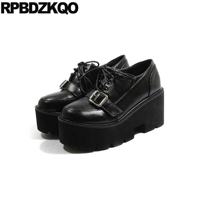 all black platforms