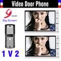2016 New 9 Inch monitor video doorphones intercom Night Vision video door phone 2 Monitor 1 Door Camera video door bell
