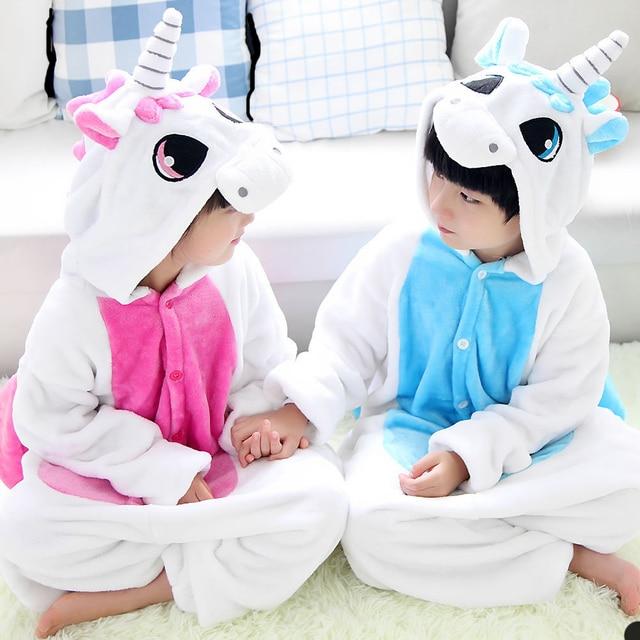 Единорог Kigurumi пижамы Детская Пижама Infatil комплект для мальчиков и  девочек Косплэй пижамы дети животных комбинезон d00e10942a3c1