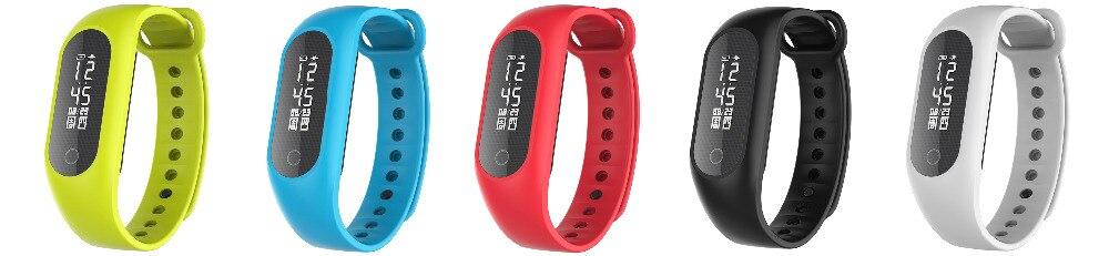 imágenes para 2017 Más Nuevo Original de Banda Inteligente Smartwatch Podómetro Pulsómetro Notificación Deporte Tracker para ios Android Brace