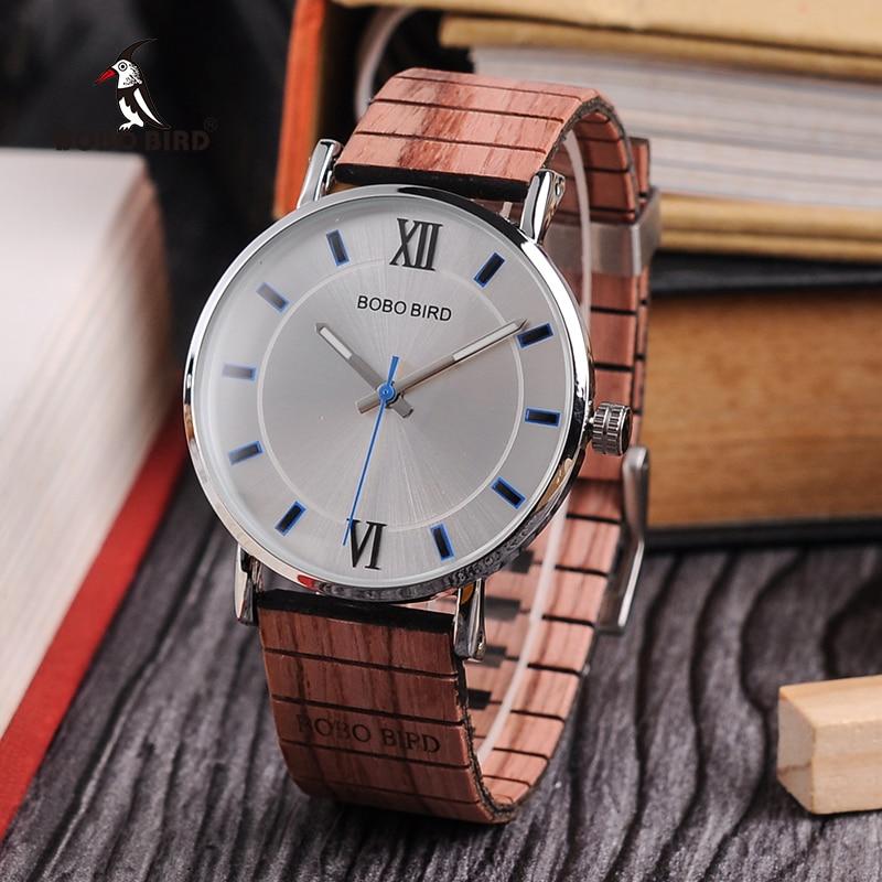 BOBO BIRD Ultra Thin Men Watch Silver Case Classic Dial Quartz Wristwatch with Special Wood Band in Gift Box цена и фото