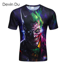 2016 New summer short sleeve round collar 3d printed t shirt men brand 100% Polyester men's 3D t shirt fashion Men's Clothing