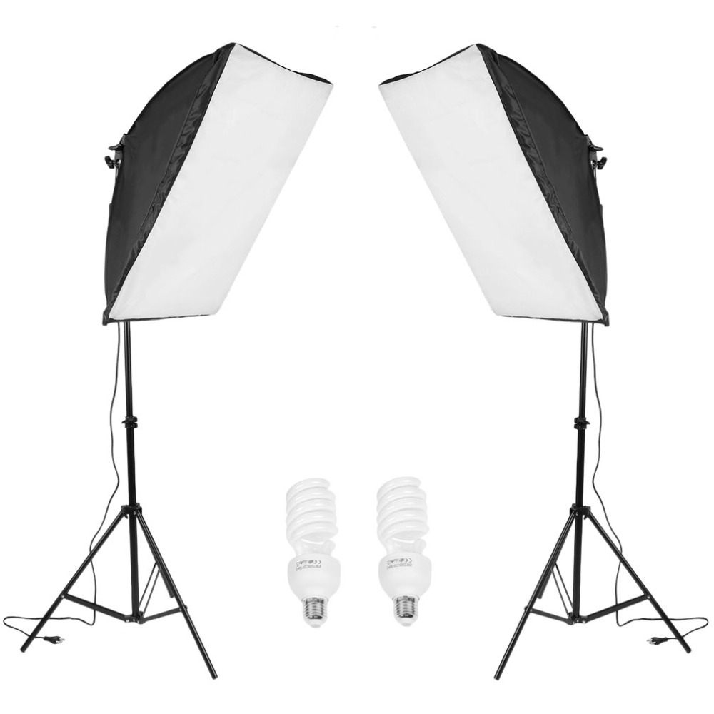 2PCS Super Stable Light Stand Kit photo studio Softbox Lamp Tripod Set With Portable Hand Bag photography accessories wholesale