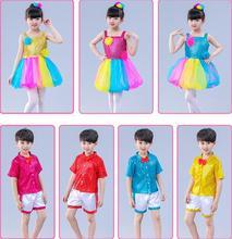 Children Ballet Dance Costumes For Girls Boy Sequins Jazz Dress Kids Modern Performance Girl Stage Dancewear