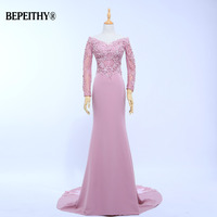 New Arrival Vestido De Festa V-Neck Mermaid Bridesmaid Dresses Floor Length Custom Made Long party Gowns Cheap Dresses 2017 New
