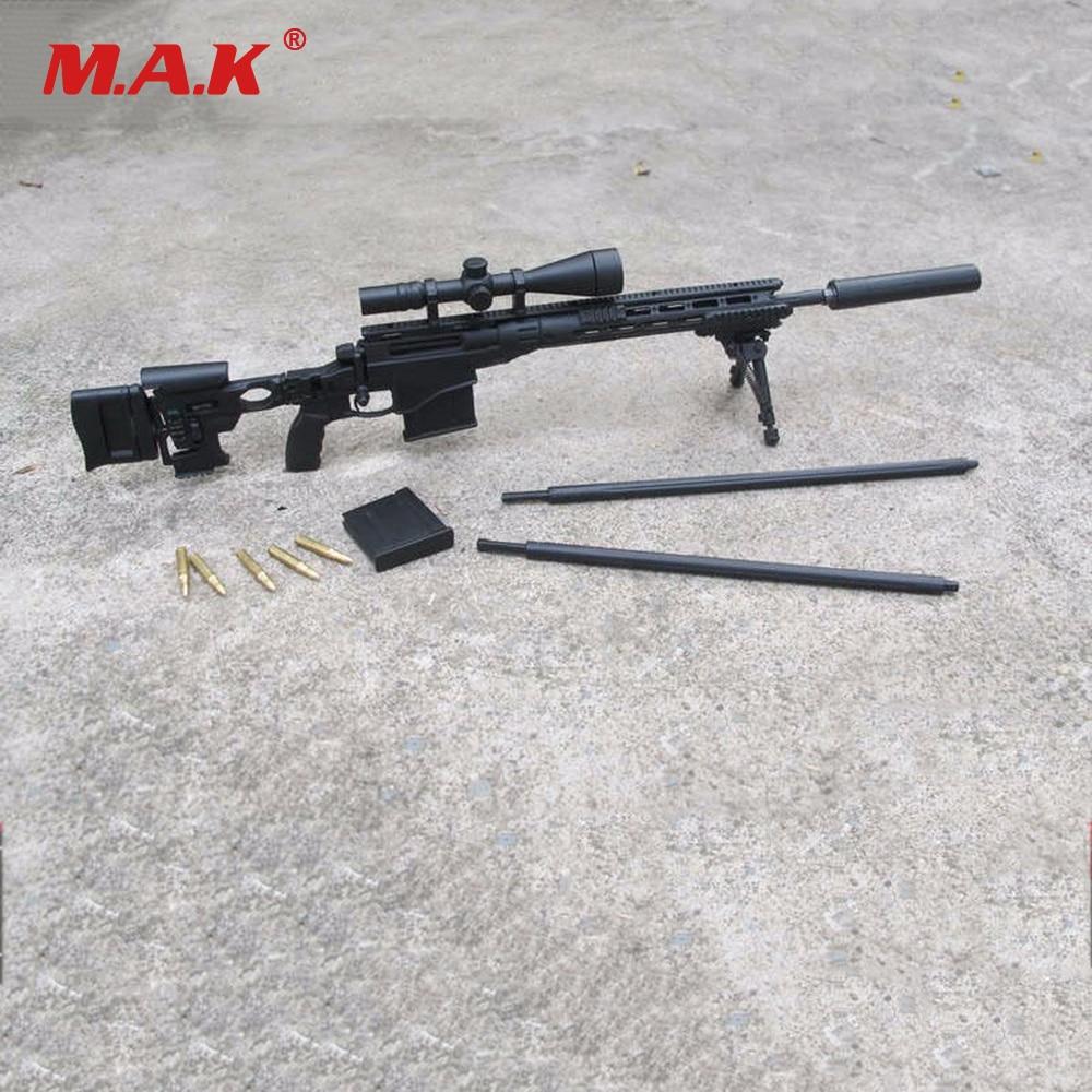 1/6 Escala Ejército De Ee. Uu. Msr Rifle De Francotirador Modular Negro Usmc Modelle Juguetes Para Accesorios De Figura De Acción De 12 Pulgadas