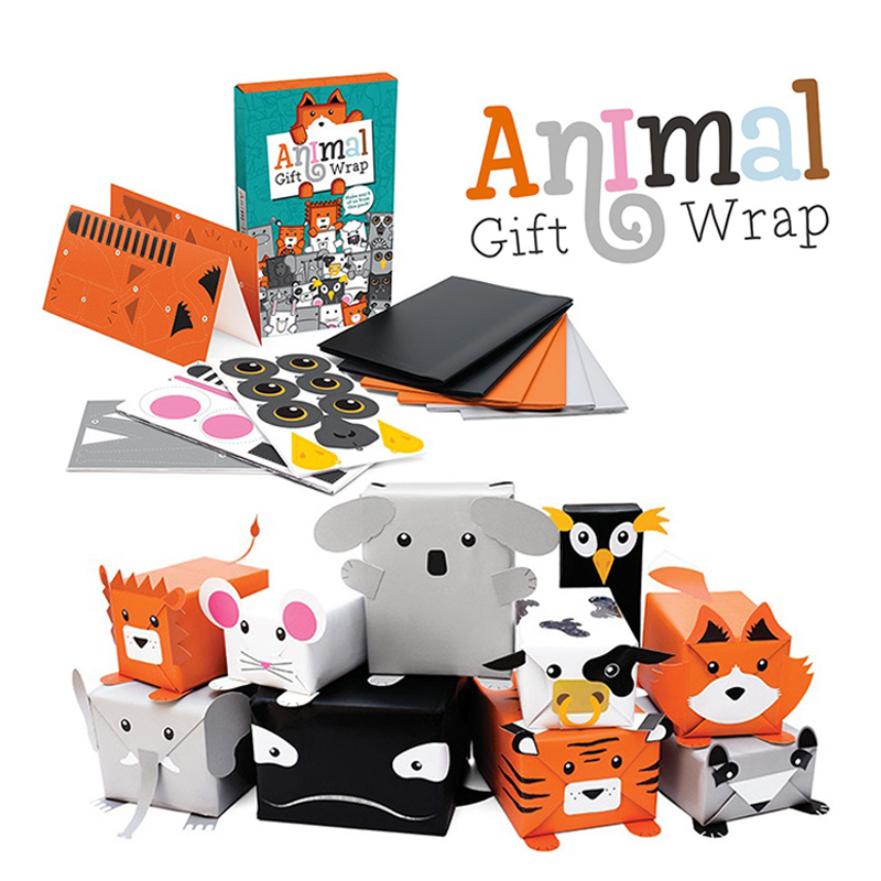Free Shipping 1 Piece Diy Animal Wrapping Paper Animal Gift