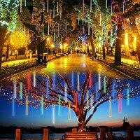 Solar Powered String Lights Outdoor Christmas Fairy Lights Xmas Tree Home Wedding Decor LED Meteor Shower Rain Lamp Solar Light