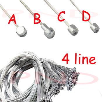 цена на Road bike MTB Bike Fixed Gear Bicycle Brake Line Shift Shifter Gear Brake Cable Sets Core Inner Wire Steel  Speed line SCX005