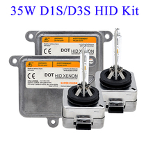 Skyjoyce original 35 w xenon d1s hid xenon kit d1s 4300 k 5000 k d3s 6000 k d1r d3r hid lâmpada 35 w farol do carro kit de lastro xenon d1s