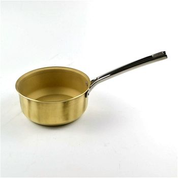 Pure Copper Small Milk Pot Single Handle Brass Pot Small Cooking Pot Household Mini wok