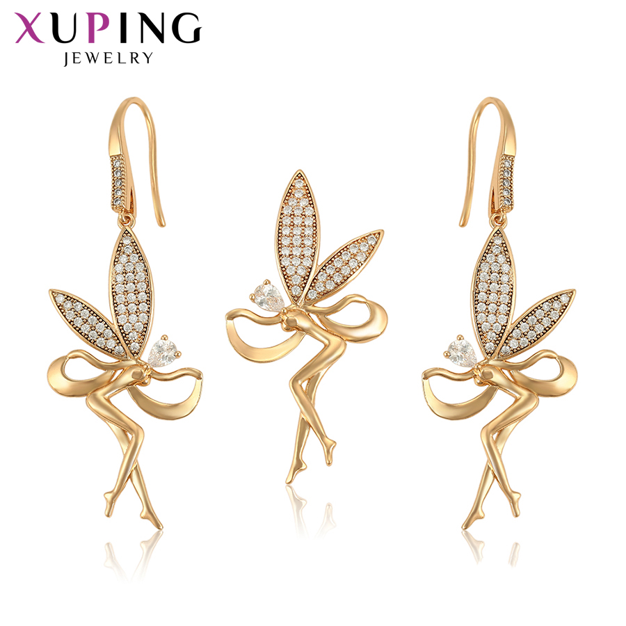 Xuping Exquisite Set for Women Charms Style Popular Design Imitation Jewelry Sets for Nice Birthday Gifts S200.9-65458