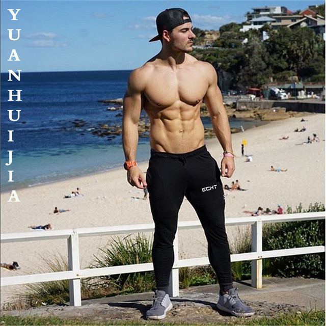 2017 New Fitness Trousers Men Leisure Pants Fashion Accessories Floor Street Hip Printing Rugged Body