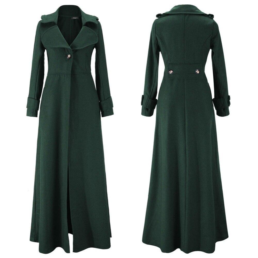 Autumn Winter jacket Women Run Qing slim long trench Wool Coat ...