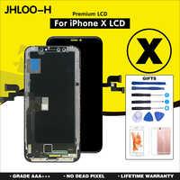 10 sztuk/partia AAA + + + dla iPhone X XS Max ekran OLED zestaw naprawczy dla iPhone XR LCD wyświetlacz nie martwy piksel