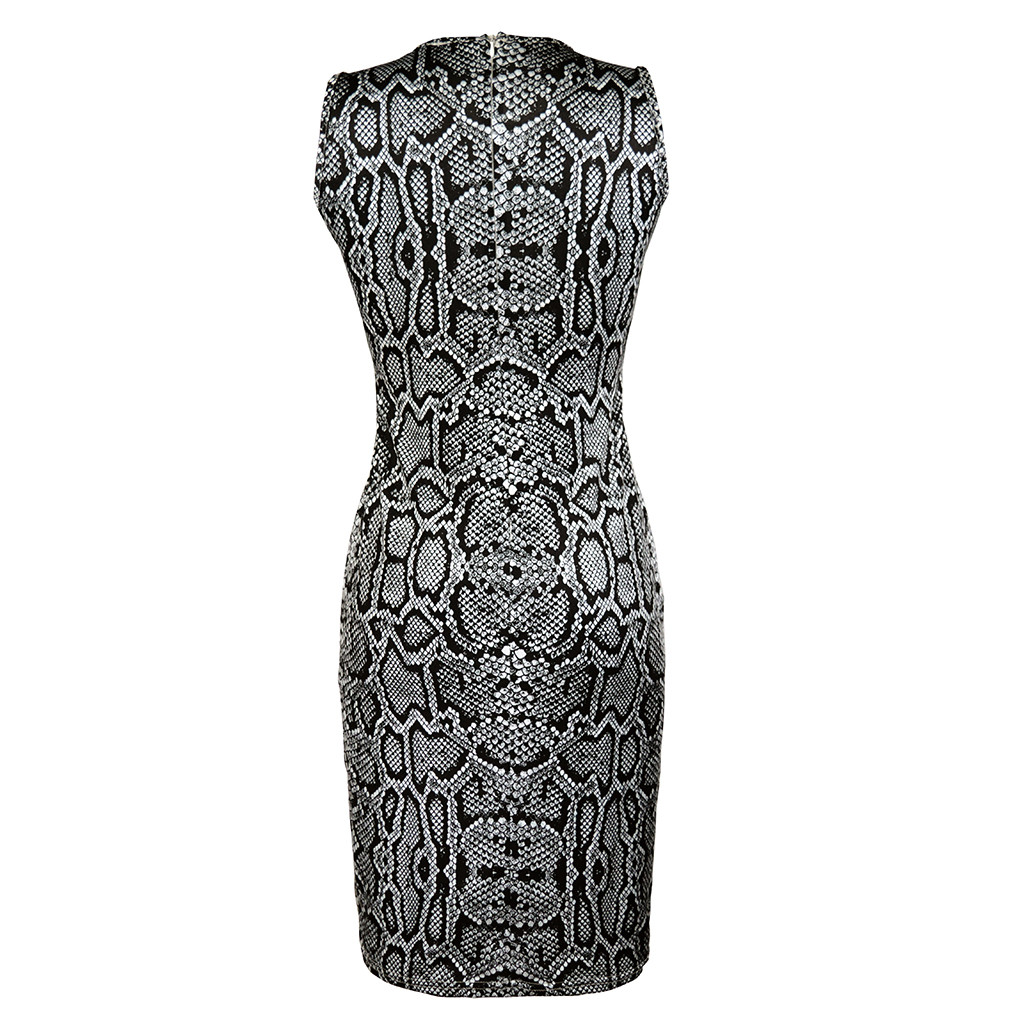Women's Dresses Ladies Sexy Serpentine Print Sleeveless Dress Summer Dress Fashion sexy bodycon dresses woman party night 2019