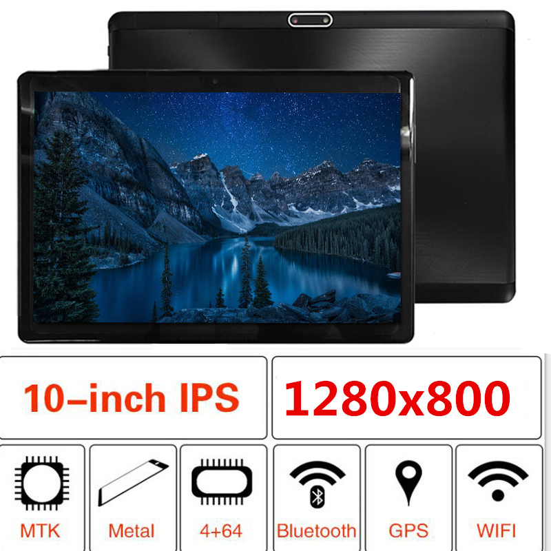 2019 10 Inch Original 3G Phone Call Android 8.1 Quad Core 4G+32G Android Tablet Pc WiFi Bluetooth GPS IPS Tablets S119 10.1