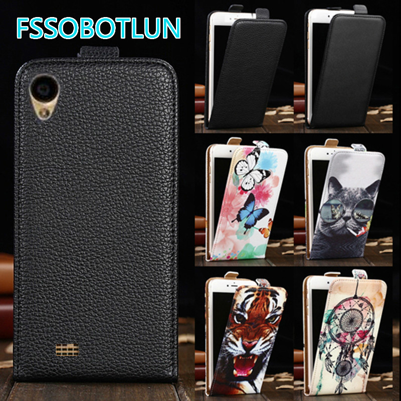 FSSOBOTLUN For <font><b>DNS</b></font> <font><b>S5008</b></font> Case TOP Quality Cartoon Painting vertical phone bag flip up and down PU Leather Cover image