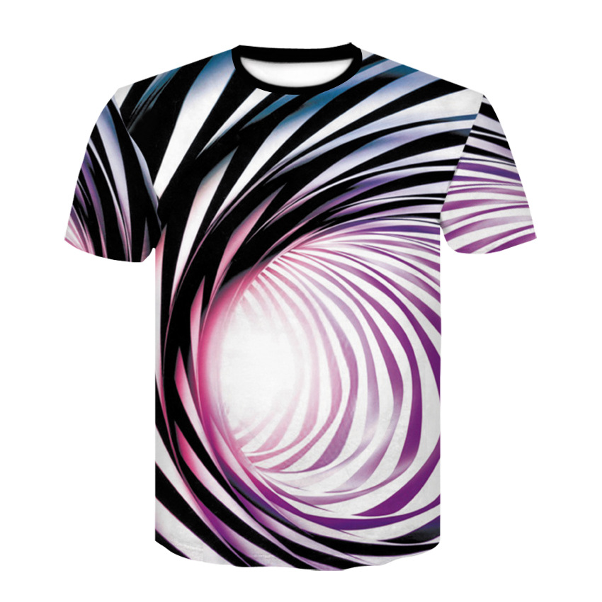 2019 Summer Fashion 3D t shirt <font><b>Men</b></font> Hypnotic Stripe Casual Streetwear Black White <font><b>Mesh</b></font> Breathable Short Sleeve <font><b>tshirt</b></font> <font><b>Men</b></font> Hip hop image
