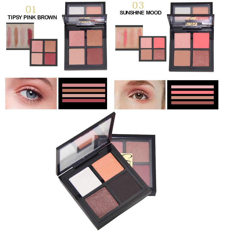 2018 New 4 Colors Makeup Eyeshadow Textured Pallete Faced Matte Pearl Makeup Eye Shadow Maquiagem 10g