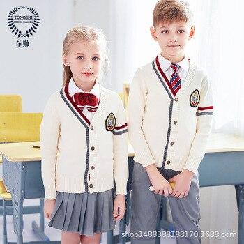 New Students Uniform Boys and Girls Kindergarten Uniforms British Style Suits Kids Nursery Garden Clothes Chorus Clothing D-0561