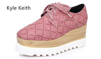 Kyle Keith Popular Cheap Flat Platform Shoes Woman High Quality Hand Made Weave Breathable Summer Shoes