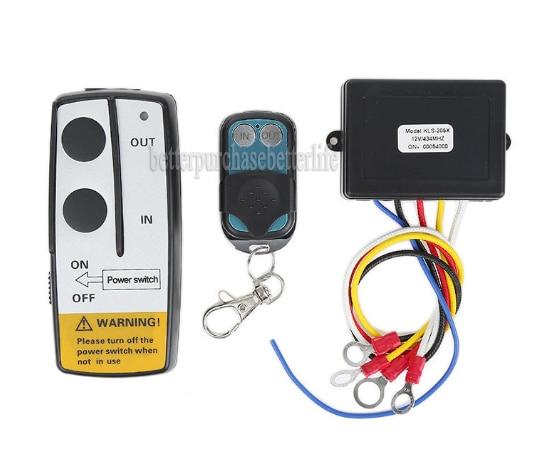 Wireless Winch Remote Control Kit, 9-30V for JeepTruck ATV SUV UTV Warn Ramsey jinshengda remote control 24v universal wireless remote control kit handset for truck jeep atv suv winch warn ramsey