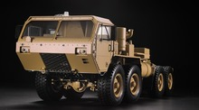 HG 1 12 RC Military Truck Metal 8 8 Chassis P802 W Motor ESC Radio System