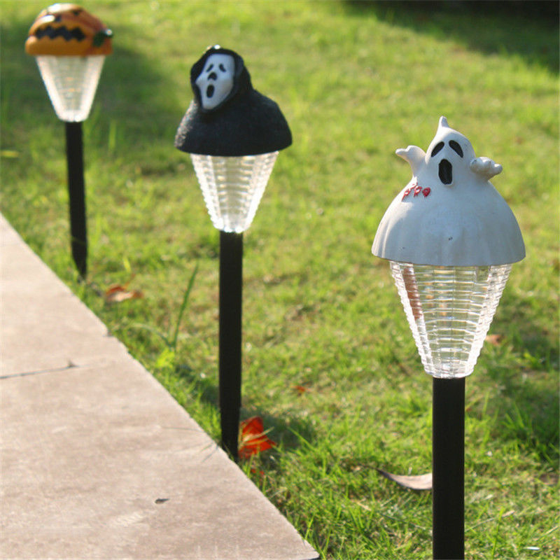 LumiParty LED Solar Powered Lamp LED Hallowmas Light Weather-Resistant Landscape Lamp Outdoor Grounding Hallowmas Light jk35