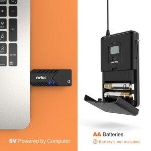 Image 3 - Fifine kablosuz yaka mikrofonu PC ve Mac için, kondenser mikrofon için USB alıcısı ile görüşme, kayıt ve Podcast
