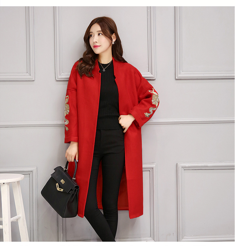 Popular Long Red Coat-Buy Cheap Long Red Coat lots from China Long ...