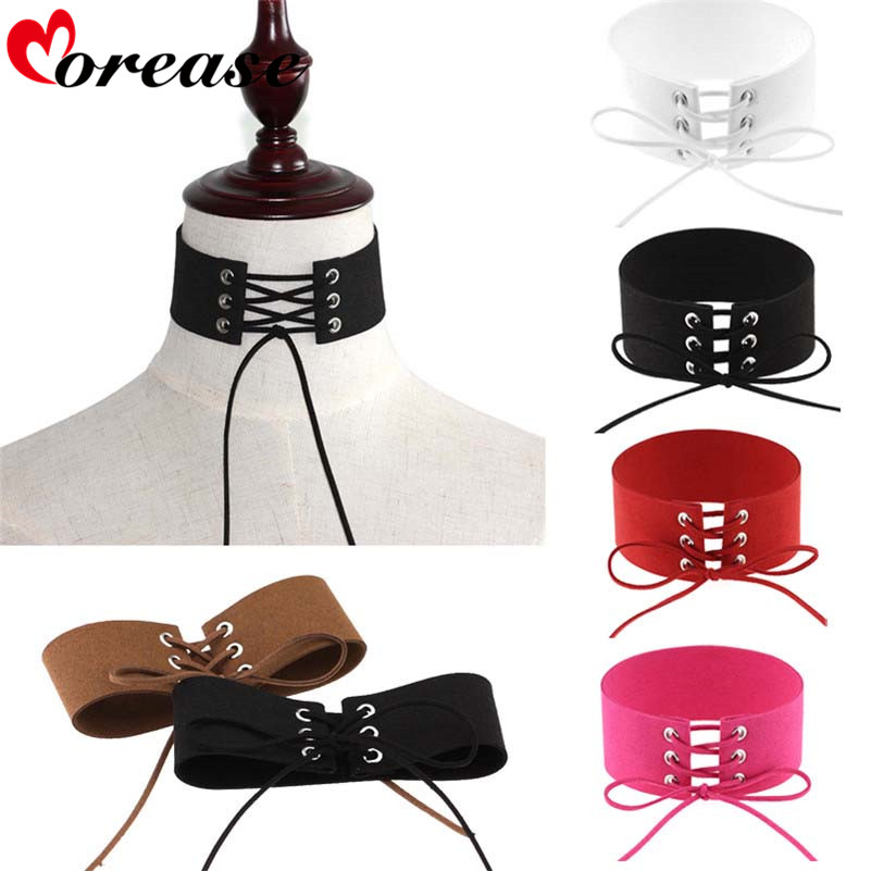 Morease Women Sexy Punk Style Bound Velvet Necklace Slave BDSM Collar Bondage Restraints Fetsih Erotic Wear Sex Toy Product