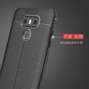 Image 2 - Wolfrule sfor caso de telefone lg g6 capa à prova de choque de couro de luxo macio tpu caso para lg g6 caso para lg g 6 h870 h873 h870ds funda]