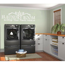 Personality description vinyl wall decals put your pants here detachable laundry room decoration wallpaper XY02
