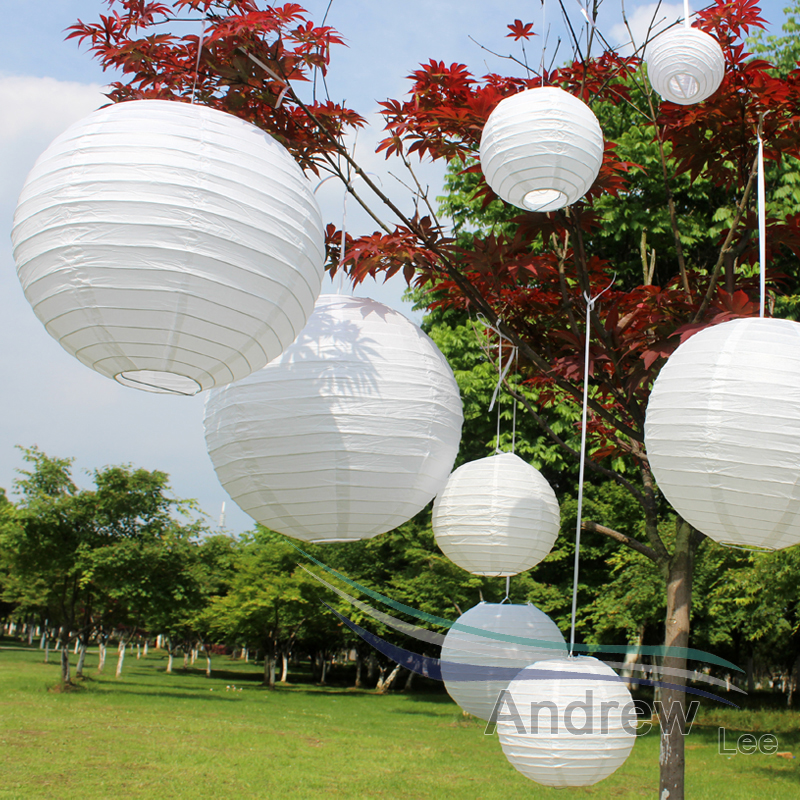 Cheap white color lantern wedding decor round chinese for Wedding decoration stores near me