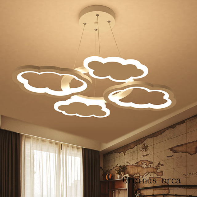 Nordic Modern Minimalist Cloud Chandelier Nursery Children S Room Lights Cartoon Creativity Led Free Shipping