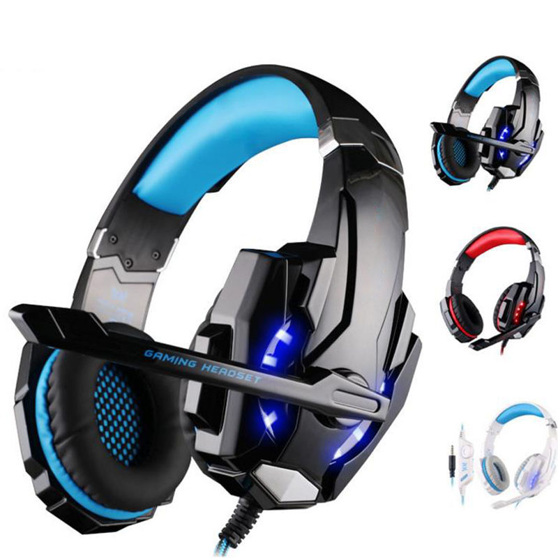 NDJU G9000 Bass Gaming Headphone PS4 Headset Earphone with 3.5MM LED Light Player Gamer Headphones with MIC for PC laptop Phones
